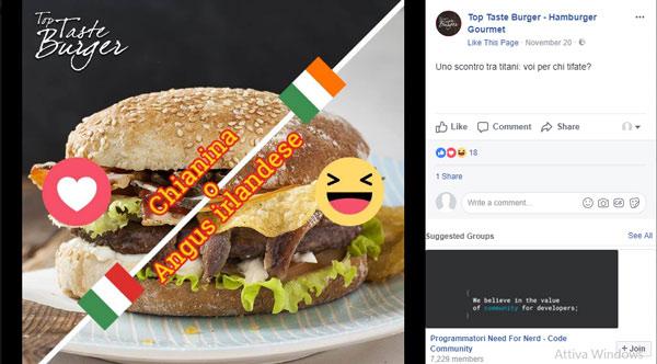 Top Taste Burger, Contest per rendere partecipi gli utenti