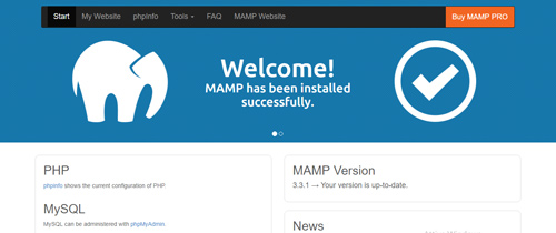 Come installare wordpress in locale - Start Page Mamp