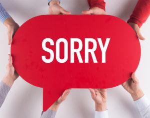 fidelizzare la tua community social, dire scusa